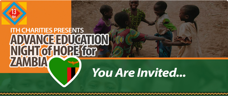ITH Charities Presents – A Night of Hope for Zambia fundraiser