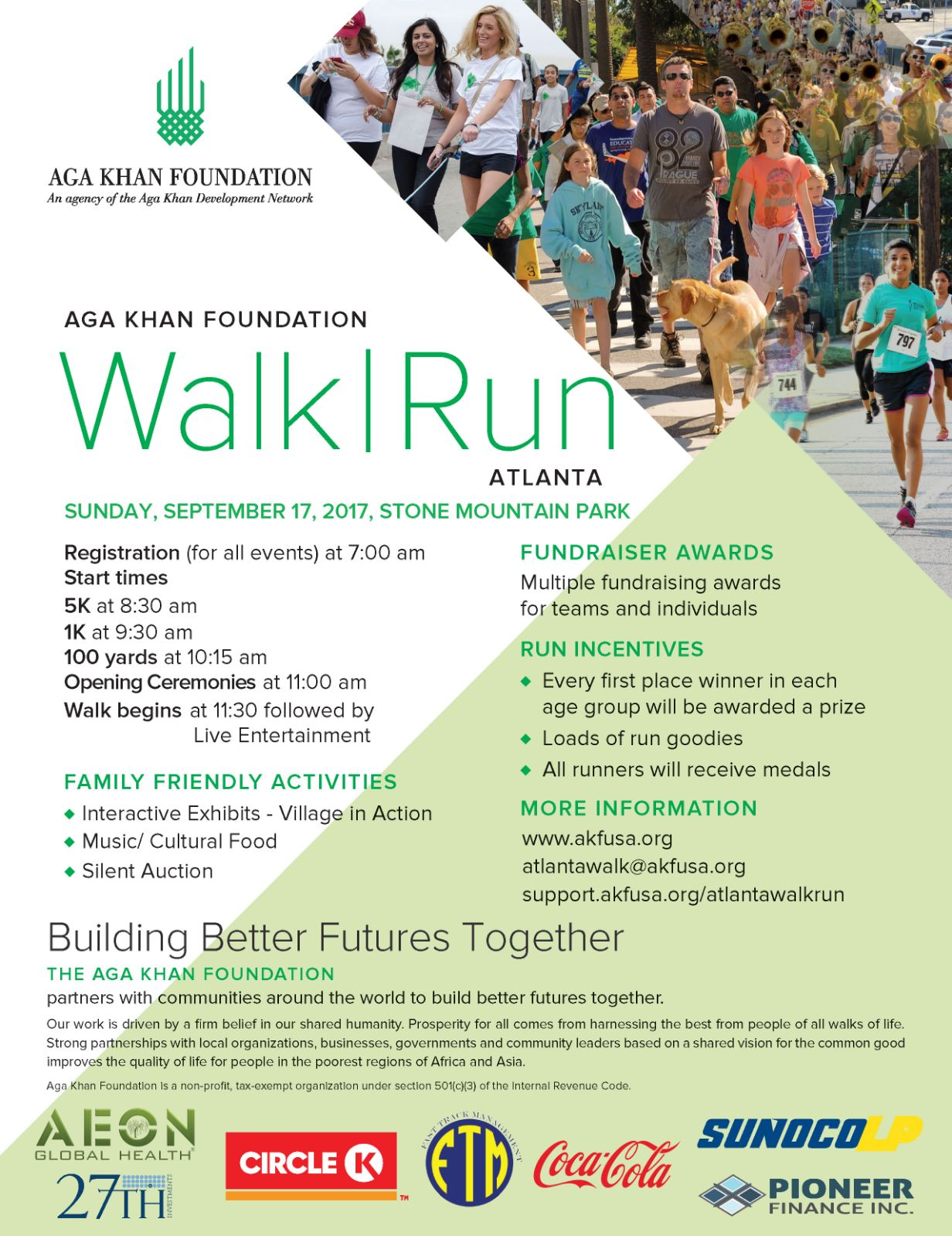 Aga Khan Foundation National Walk|Run – ATLANTA 2017